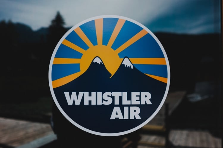 whistler air logo whistler elopement photography