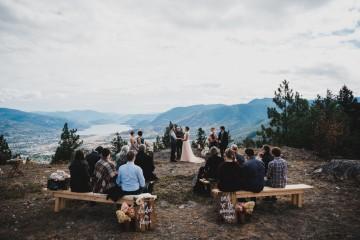 intimate mountaintop wedding