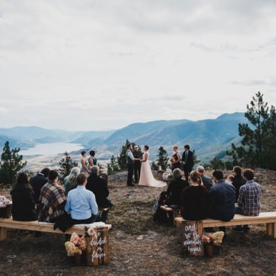intimate mountaintop wedding