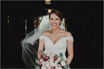 Nita lake lodge wedding bride smile