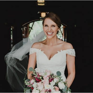 Nita lake lodge wedding bride smile